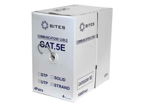 Кабель UTP outdoor 4 пары категория 5e 5bites UT5725-305A многожильный 24AWG CCA PVC 305м цена и фото