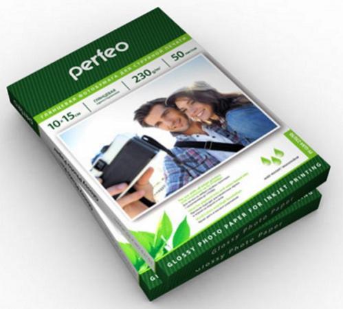 Бумага Perfeo 10х15 230г/м2 глянцевая 50л PF-GLR4-230/50 бумага hi black a200102u a4 230г м2 глянцевая односторонняя 100л h230 a4 100