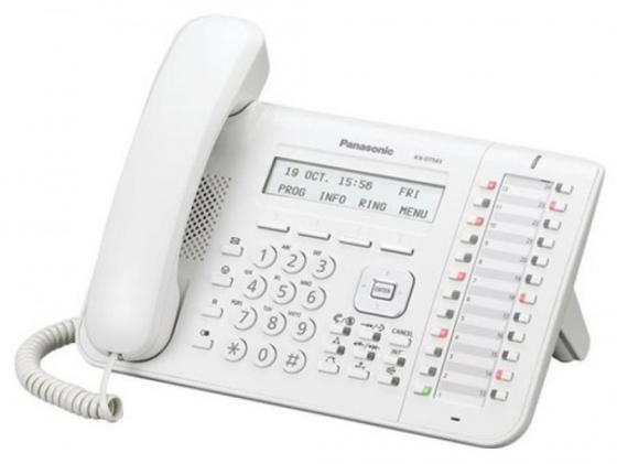 цена на Системный телефон Panasonic KX-DT543RU белый