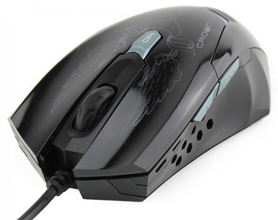 цена на Мышь проводная Crown CMXG-1100 BLAZE чёрный USB