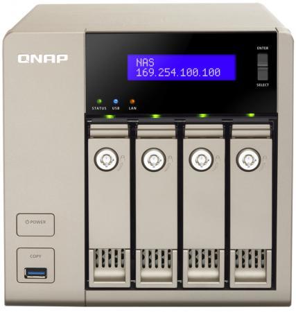 Сетевое хранилище QNAP TVS-463-4G AMD 2.4ГГц 4x3.5/2.5HDD hot swap RAID 0/1/5/6/10 1xHDMI burgerschuhe туфли burgerschuhe 77140