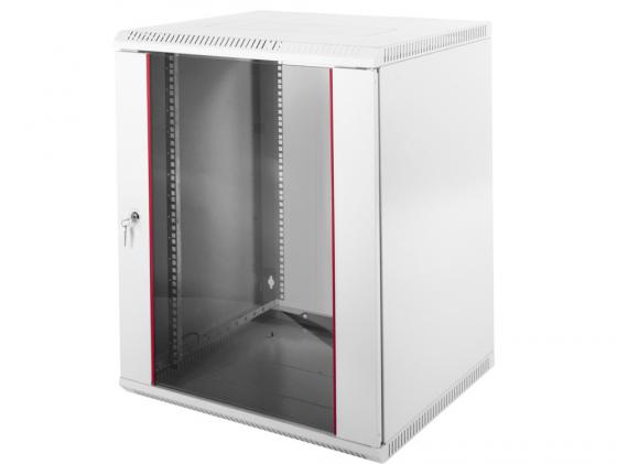 Шкаф настенный разборный 15U ЦМО ШРН-Э-15.650 600х650mm дверь стекло серый цена и фото