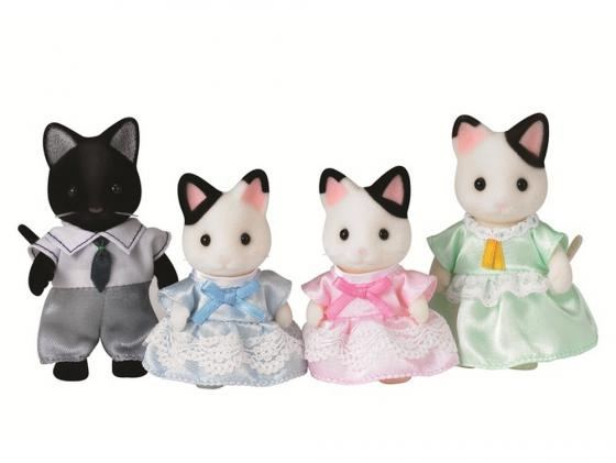 Игровой набор Sylvanian Families Семья черно-белых котов 4 предмета 5181 sylvanian families 3137 семья персидских котов