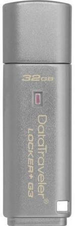 Флешка USB 32Gb Kingston DataTraveler LPG2 DTLPG3/32GB серебристый флешка usb 128gb kingston datatraveler se9 g2 dtse9g2 128gb серебристый