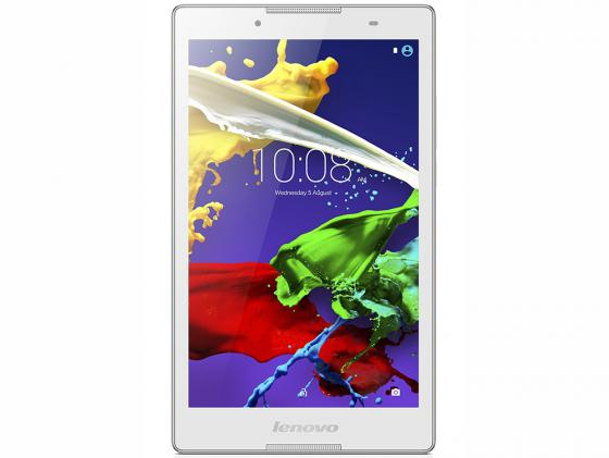 Планшет Lenovo Tab 2 A8-50 8 16Gb белый Wi-Fi 3G Bluetooth LTE Android ZA050036RU монитор philips 243v7qdab 00 01 черный ips 1920x1080 250 cd m^2 5 ms dvi hdmi vga аудио
