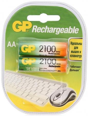 Аккумуляторы 2100 mAh GP 210AAHC-2DECRC2 AA 2 шт растение фикус эластика мелани д 12
