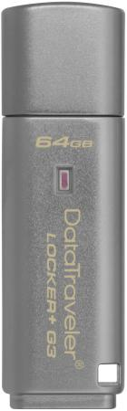 Флешка USB 64Gb Kingston DataTraveler LPG2 DTLPG3/64GB серебристый Locker+G3 цена