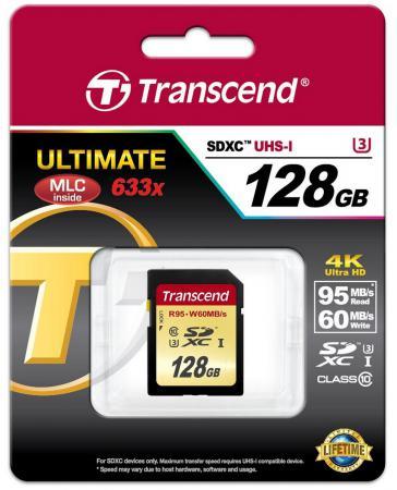 Карта памяти SDXC 128GB Class 10 Transcend TS128GSDU3 sdxc
