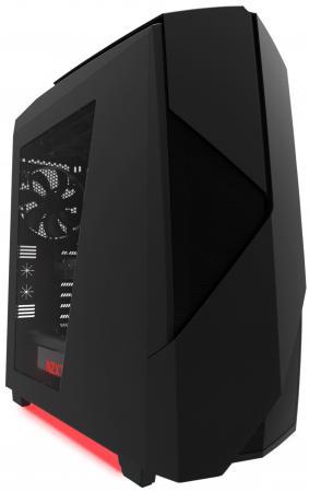 Корпус ATX NZXT Noctis 450 Без БП чёрный красный корпус atx gmc t360 без бп чёрный