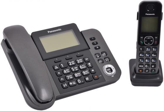 Купить со скидкой Радиотелефон DECT Panasonic KX-TGF310RUM серый металлик