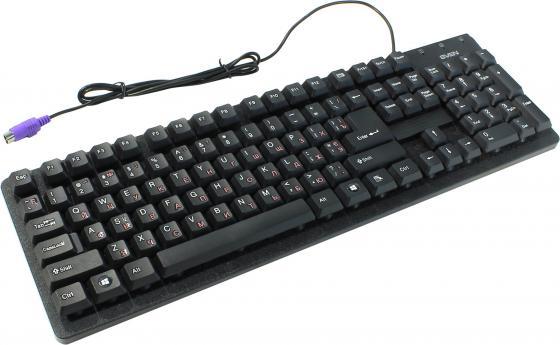 Клавиатура проводная Sven Standard 301 PS/2 черный цена и фото