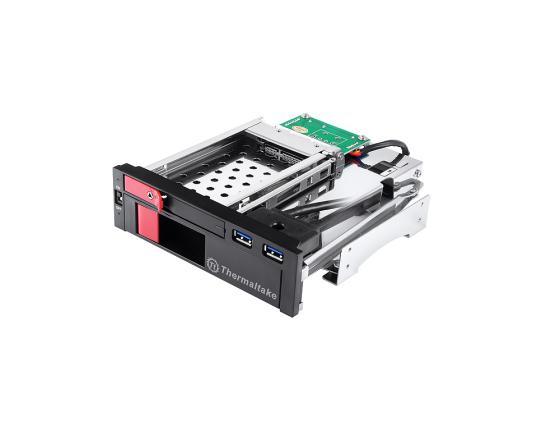 все цены на Сменный бокс Thermaltake Max5 Duo ST0026Z SATA II пластик/сталь черный