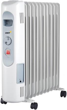 Масляный радиатор Unit UOR-123 2500 Вт белый масляный обогреватель unit uor 723
