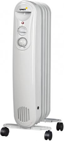 Масляный радиатор Unit UOR-515 1000 Вт белый масляный обогреватель unit uor 723