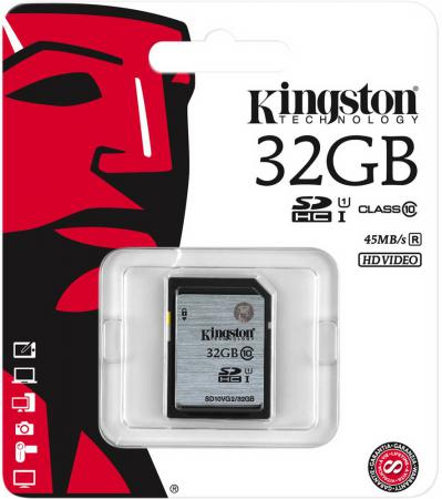 Карта памяти SDHC 32GB Class 10 Kingston UHS-1 SD10VG2/32GB micro securedigital 32gb hc kingston uhs 1 class 10 sdc10g2 32gbsp