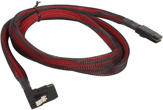 Кабель интерфейсный SAS SFF8087 угловой - SFF8087 прямой 1м YS23-MSAS-018-11 кабель kvm lenovo 3m msas hd to msas hd 00mj180