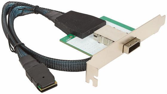 Кабель-переходник SAS Int/Ext 4 порта SFF8087(32pin) - SFF8088(32pin) 0.5м Y23-MSAS-037-1 кабель kvm lenovo 3m msas hd to msas hd 00mj180