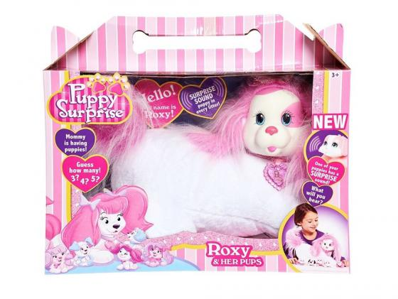 Интерактивная игрушка Just Play Собачка Рокси и ее щенки от 3 лет белый 42107