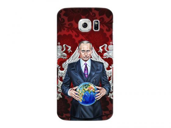 Чехол Deppa Art Case и защитная пленка для Samsung Galaxy S6, Person_Путин карта мира, чехол deppa art case и защитная пленка для samsung galaxy s6 патриот медведь гармонь