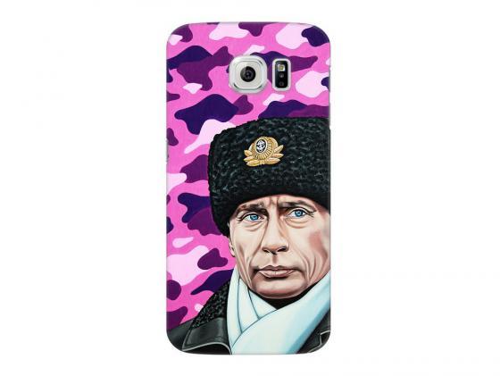 Чехол Deppa Art Case и защитная пленка для Samsung Galaxy S6, Person_Путин шапка, deppa чехол air case и защитная пленка для samsung galaxy a7 2016 серый deppa 83237
