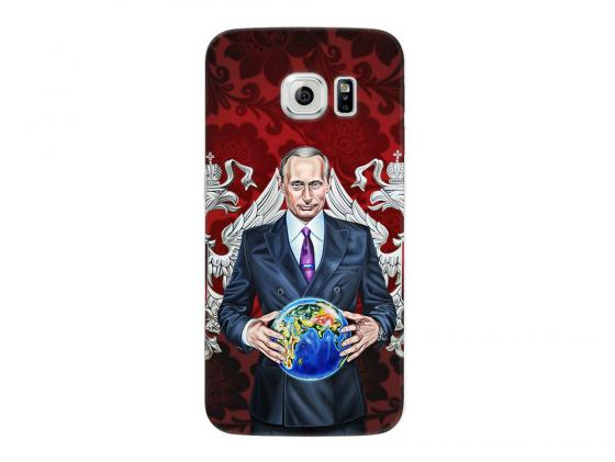 Чехол Deppa Art Case и защитная пленка для Samsung Galaxy S6 edge, Person_Путин карта мира, чехол deppa art case и защитная пленка для samsung galaxy s6 edge танки зверобой