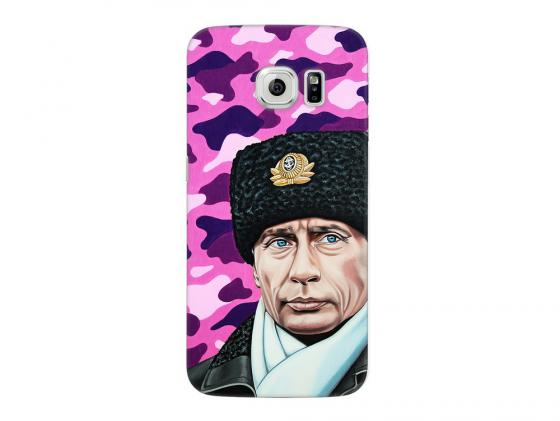 Чехол Deppa Art Case и защитная пленка для Samsung Galaxy S6 edge, Person_Путин шапка, цена