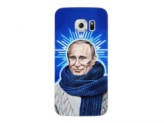 Чехол Deppa Art Case и защитная пленка для Samsung Galaxy S6 edge, Person_Путин звезда, tpu case cover for samsung s6 edge plus