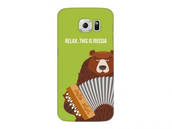 Чехол Deppa Art Case и защитная пленка для Samsung Galaxy S6, Патриот_Медведь гармонь, deppa чехол air case и защитная пленка для iphone 5 5s
