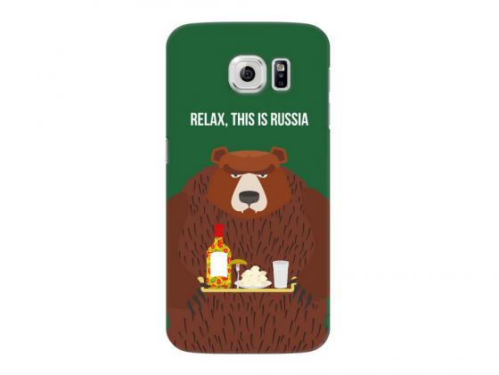Чехол Deppa Art Case и защитная пленка для Samsung Galaxy S6, Патриот_Медведь, стоимость