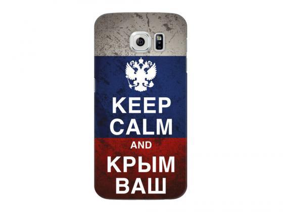Чехол Deppa Art Case и защитная пленка для Samsung Galaxy S6, Патриот_Крым ваш, чехол аккумулятор deppa nrg case 2600 mah для iphone 7 белый 33520
