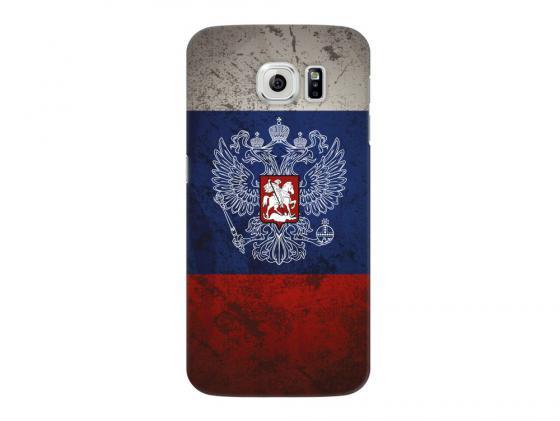 Чехол Deppa Art Case и защитная пленка для Samsung Galaxy S6, Патриот_Флаг, чехол deppa art case и защитная пленка для samsung galaxy s6 edge танки разведчик
