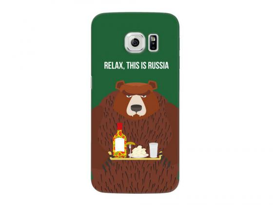 Чехол Deppa Art Case и защитная пленка для Samsung Galaxy S6 edge, Патриот_Медведь, deppa для samsung galaxy s6 edge глянцевая