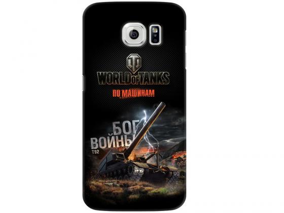 Чехол Deppa Art Case и защитная пленка для Samsung Galaxy S6, Танки_Бог войны, deppa чехол air case и защитная пленка для samsung galaxy a7 2016 серый deppa 83237