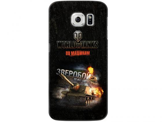 Чехол Deppa Art Case и защитная пленка для Samsung Galaxy S6, Танки_Зверобой, чехол deppa art case и защитная пленка для samsung galaxy s6 танки разведчик