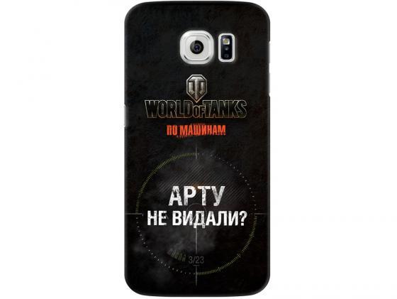 Чехол Deppa Art Case и защитная пленка для Samsung Galaxy S6, Танки_Арту не видали, чехол аккумулятор deppa nrg case 2600 mah для iphone 7 белый 33520