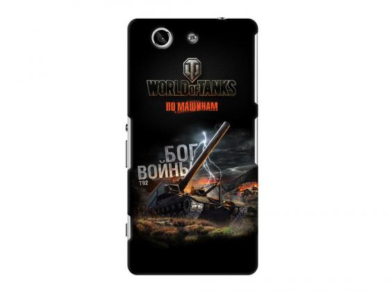 Чехол Deppa Art Case и защитная пленка для Sony Xperia Z3 Compact, Танки_Бог войны, new poa lmp86 lmp86 610 317 5355 lamp for sanyo plv z3 plv z1x plv z1x z3 projector bulb lamp with housing