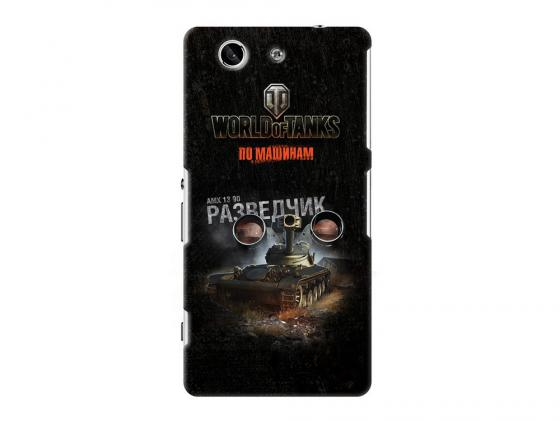 Чехол Deppa Art Case и защитная пленка для Sony Xperia Z3 Compact, Танки_Разведчик, new poa lmp86 lmp86 610 317 5355 lamp for sanyo plv z3 plv z1x plv z1x z3 projector bulb lamp with housing