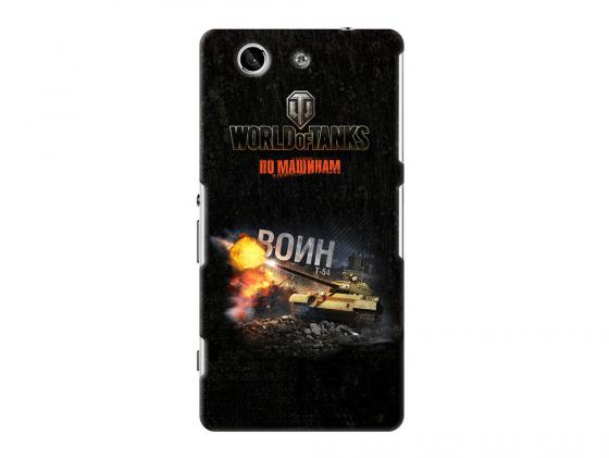 Чехол Deppa Art Case и защитная пленка для Sony Xperia Z3 Compact, Танки_Воин, new poa lmp86 lmp86 610 317 5355 lamp for sanyo plv z3 plv z1x plv z1x z3 projector bulb lamp with housing