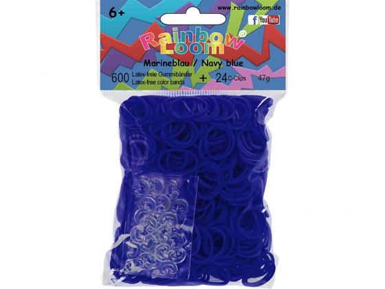 Резинки для плетения Rainbow Loom Тёмно-синий 22130 600 шт набор для детского творчества резинки rainbow loom светящиеся в темноте фиолетовые gid purple
