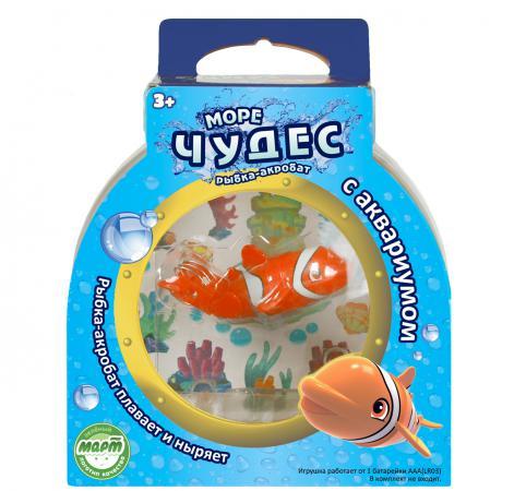 Интерактивная игрушка Redwood Рыбка–Акробат Лакки с Аквариумом от 3 лет разноцветный 159024 игрушка redwood рыбка акробат бубба 126211 5
