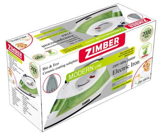 Утюг Zimber ZM-10810 2000Вт зеленый цена