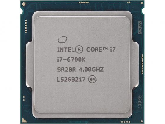 Процессор Intel Core i7-6700K 4.0GHz 8Mb Socket 1151 BOX без кулера процессор intel core i5 6600 3 3ghz 6mb socket 1151 box