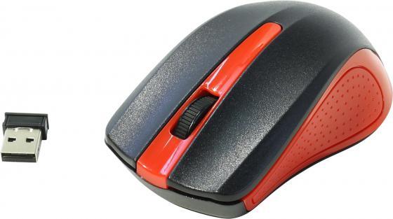 Мышь беспроводная Oklick 485MW чёрный красный USB мышь беспроводная oklick 655mw чёрный красный usb