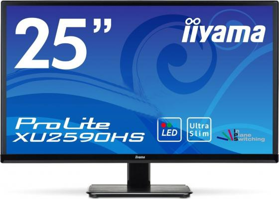 Монитор 25 iiYama Pro Lite XU2590HS-B1 черный AH-IPS 1920x1080 250 cd/m^2 5 ms DVI HDMI VGA Аудио