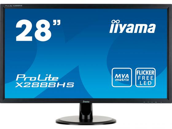 Монитор 28 iiYama Pro Lite X2888HS-B1/B2 черный MVA 1920x1080 300 cd/m^2 5 ms DVI HDMI DisplayPort VGA Аудио монитор 23 iiyama prolite xub2390hs b1 черный ah ips 1920x1080 250 cd m^2 5 ms аудио dvi hdmi vga