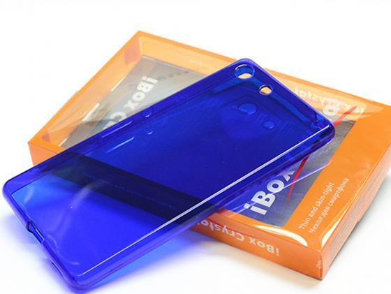 Чехол силикон iBox Crystal для Sony Xperia C5 Ultra (синий) аксессуар чехол sony xperia c5 ultra cojess ultra slim экокожа флотер red