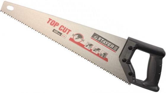 Ножовка Stayer Top Cut по дереву закаленный зуб пластиковая ручка 1510-50 лента stayer profi клейкая противоскользящая 50мм х 5м 12270 50 05
