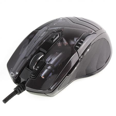 Мышь проводная Crown CMXG-703 Colt чёрный USB