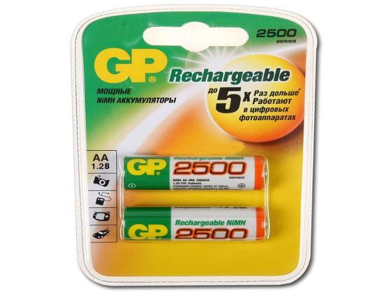 Фото - Аккумулятор 2500 mAh GP 250AAHC-2DECRC2 AA 2 шт аккумулятор