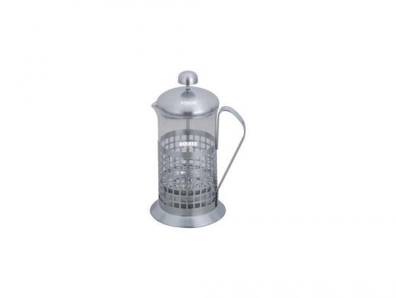 Френч-пресс Bekker BK-364 0. л металл/стекло серебристый